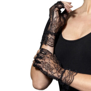 Svarta spetshandskar