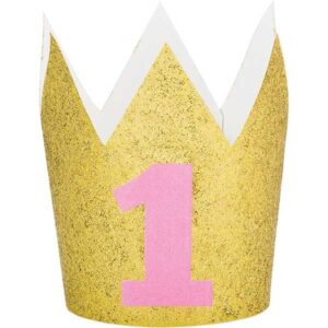 1 års hatt Krona Rosa