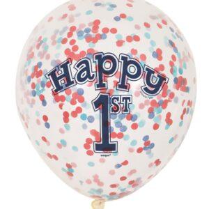 Ballong med konfetti 1 år