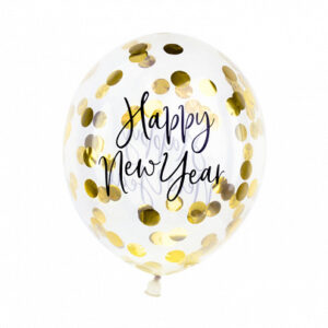 Ballonger med Konfetti Happy New Year
