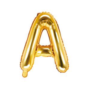 Bokstavsballong Guld 35 cm - A