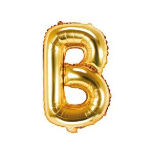 Bokstavsballong Guld 35 cm - B
