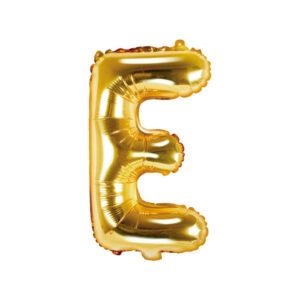 Bokstavsballong Guld 35 cm - E