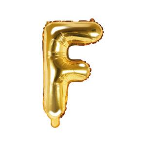 Bokstavsballong Guld 35 cm - F
