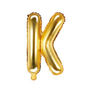Bokstavsballong Guld 35 cm - K