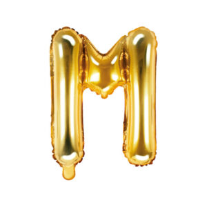 Bokstavsballong Guld 35 cm - M