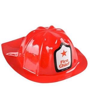 Brandmanshatt röd