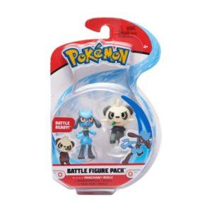 Pokémon Battlefigur 2-Pack (Pancham & Riolu)