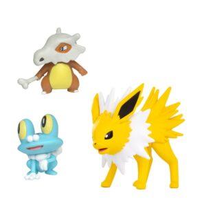 Pokémon battle figure 3-pack (Froakie 5cm, Cubone 5cm, Jolteon 8cm)