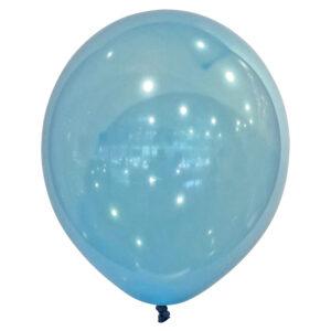 50 pack Ballonger Crystal Blå