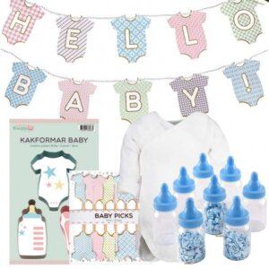 Babypaket för Babyshowern Blå