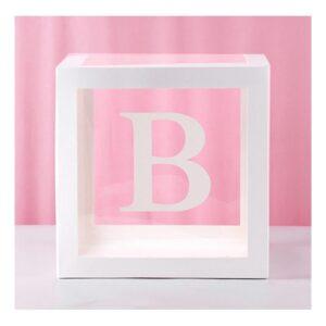 Ballongbox med Bokstav - Bokstav B