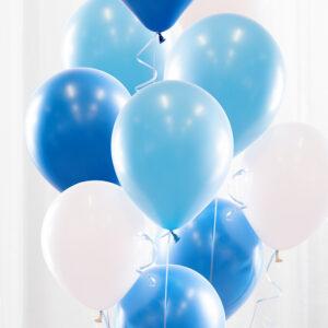 Ballongbukett Babyblå