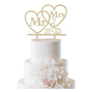 Cake Topper Mr & Mrs - 1-pack