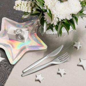 Dekoration Stjärnor Silver