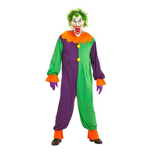 Evil Joker Clown Maskeraddräkt - X-Large