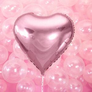 Folieballong Hjärta Rosa - 45 cm