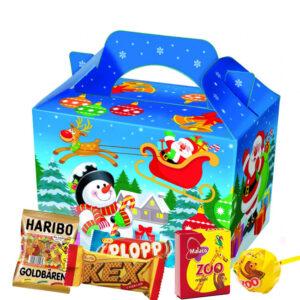 Godisbox med innehåll Jul
