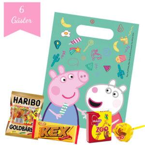 Godispåsar Peppa Pig med innehåll för 6 barn