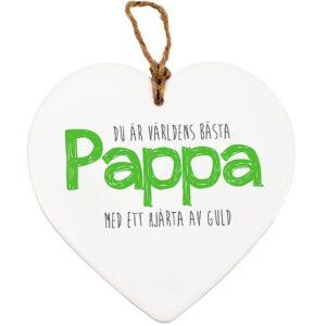 Hjärta i keramik - Pappa