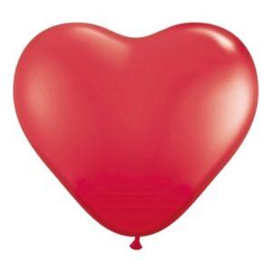 Hjärtballonger Röda - 50-pack