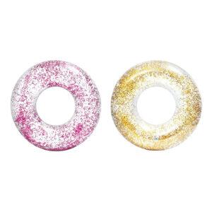 Intex Transparent Glitter Badring - Guld