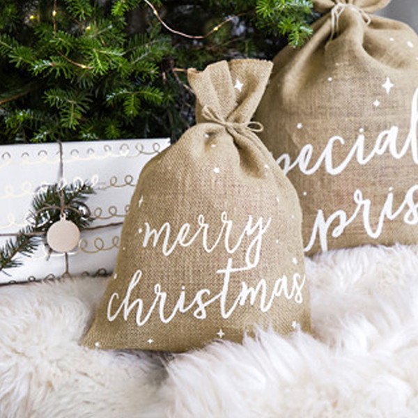 Jutesäck Merry Christmas