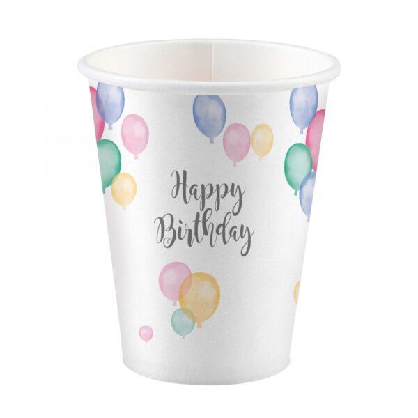 Pappersmuggar Happy Birthday Pastell