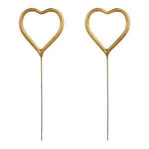 Tomtebloss Hjärtformade Guld - 2-pack