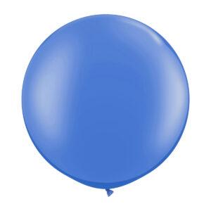 Ballong, rund blå 80 cm 1 st