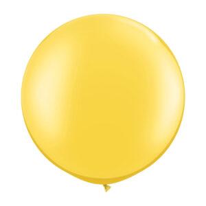 Ballong, rund gul 80 cm 1 st