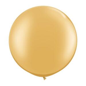 Ballong, rund guld 80 cm 1 st