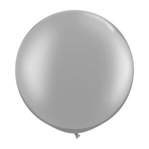 Ballong, rund silver 80 cm 1 st