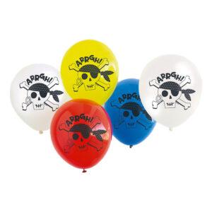 Ballonger Pirat Jolly Roger - 8-pack