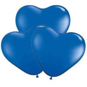 Ballonger, hjärta blå 30 cm 10 st