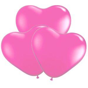 Ballonger, hjärta rosa 30 cm 10 st
