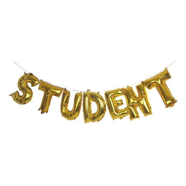 Ballonggirlang Student Guld Metallic