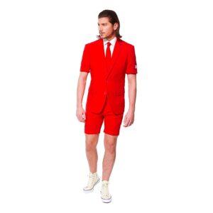 OppoSuits Red Devil Shorts Kostym - Strl 52