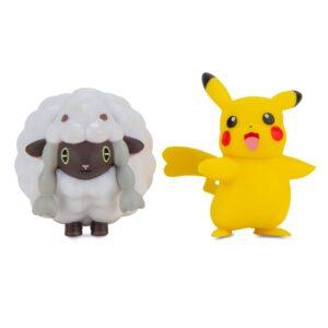 Pokémon Battlefigurer 2-Pack (Female Pikachu & Wooloo)