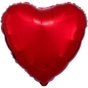 Folieballong, hjärta-Röd