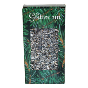 Julgransglitter Silver - 2 meter