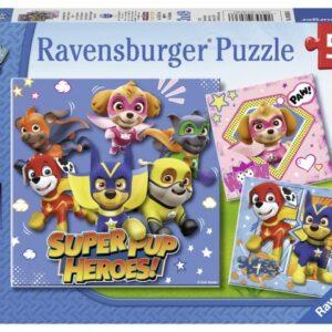 Ravensburger Pussel Paw Patrol 3x49 bitar Super Pup Heroes