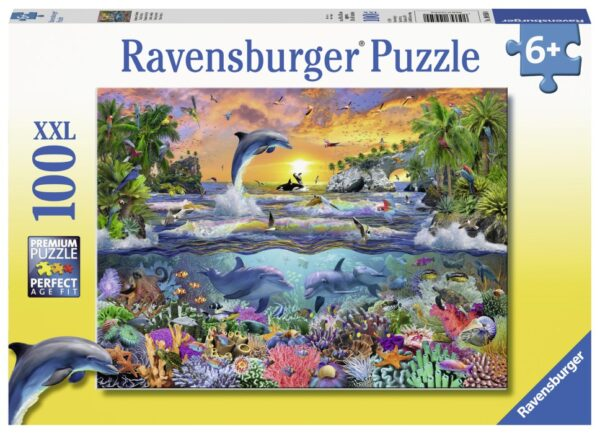 Ravensburger Pussel Tropiskt paradis 100-bitar
