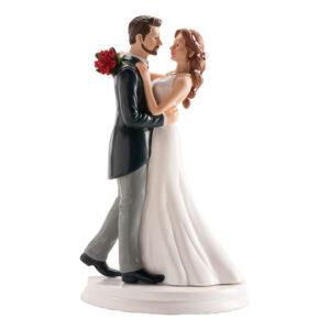 Tårtdekoration Bröllopspar Kiss Me