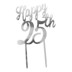 Tårtdekoration Happy 25th