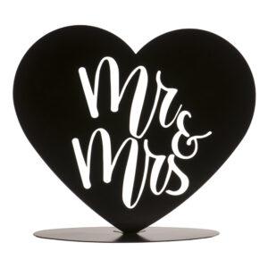 Tårtdekoration Skylt Mr & Mrs