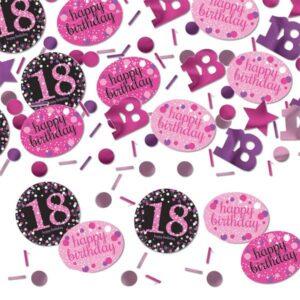 Rosa 18-års konfetti
