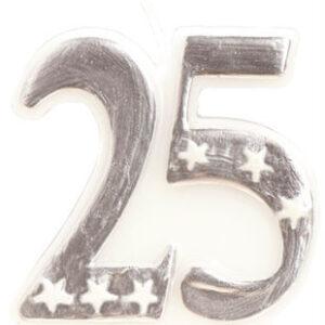 25 år tårtljus