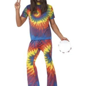 60-tals Färgglad Hippie Maskeraddräkt
