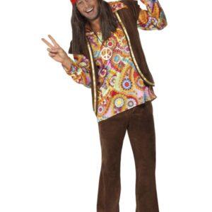 60-tals Psykadelisk Hippie Maskeraddräkt